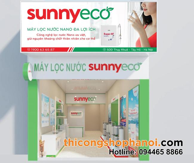 Thiết kế và thi công shop máy lọc nước Sunny eco tại 500 Thụy Khuê HN