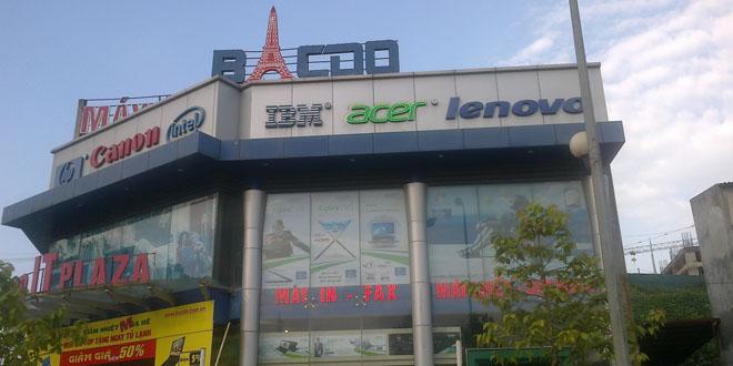 Thiết kế, thi công tủ đảo laptop Hãng Acer tại Showroom máy tính, điện máy Bắc Đô Lào Cai