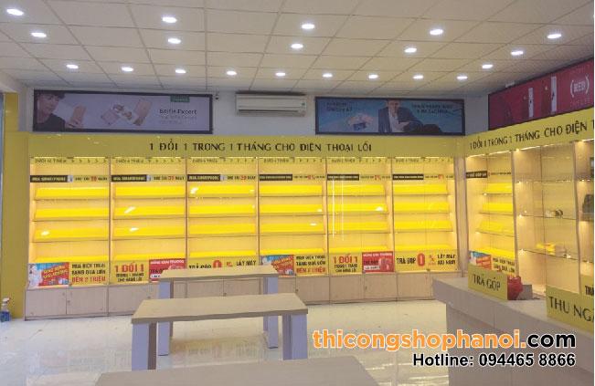 Thiết kế và thi công cửa hàng điện thoại Thế giới di động số tại Thanh Hóa