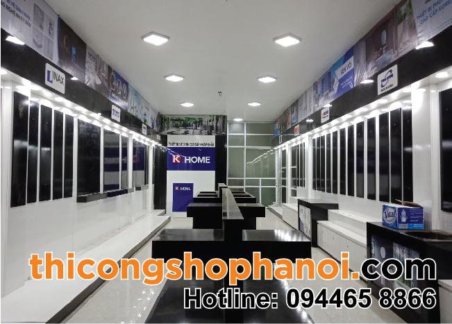 Thiết kế và thi công cửa hàng Sen vòi TBVS K.  Home Hàn Quốc tại TP. Thái Bình