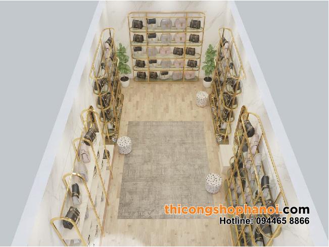 Thiết kế và thi công shop giầy dép và túi xách cao cấp tại HN