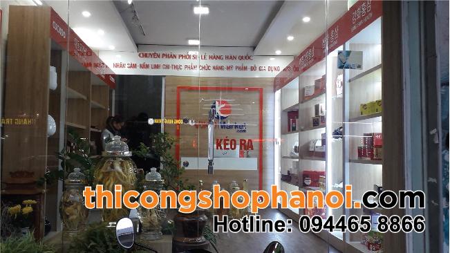 Thiết kế và thi công cửa hàng Hồng Sâm, Nấm Linh Chi Hàn Quốc tại Hà Đông – HN