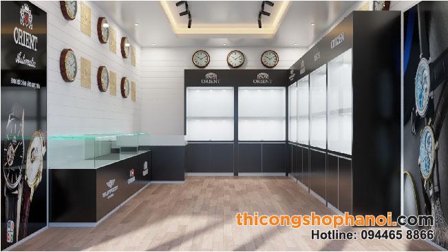 Thiết kế Shop đồng hồ 30 m2 tại Hà nội