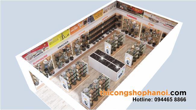 Thiết kế và thi công cửa hàng đồ gia dụng tại Hà Nội