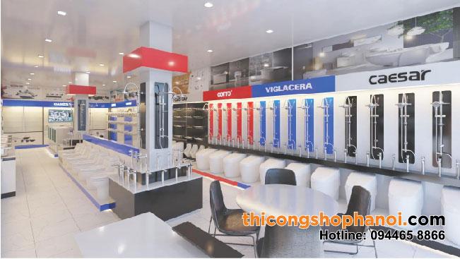 Thiết kế và thi công shop TBVS,  điện lạnh, camera tại HP