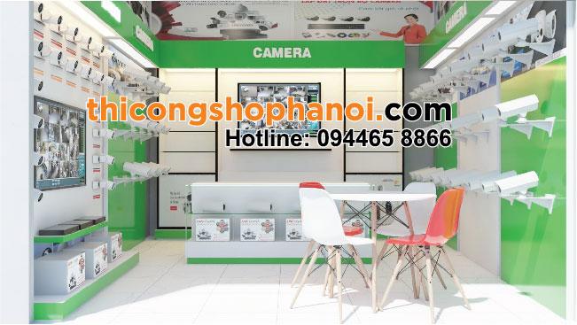 Thiết kế shop trưng bày camera tại Hà Nội