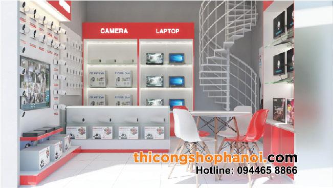 Thiết kế và thi công cửa hàng Camera, máy tính, PC Gaming tại Hưng yên
