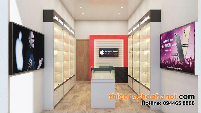 Thiết kế và thi công shop điện thoại tại HN