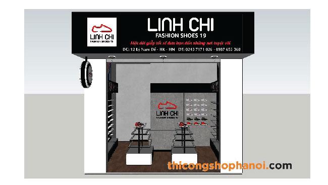 Thiết kế và thi công shop giầy thể thao tại HN