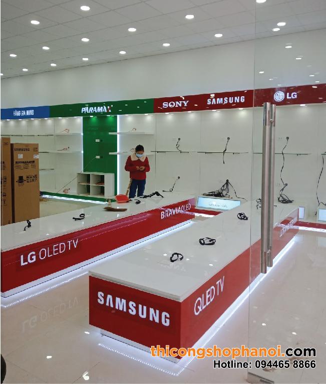 Thiết kế và thi công showroom điện máy Huy Bộ tại Lạng Sơn