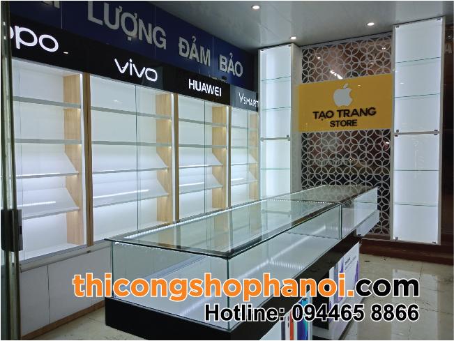 Thiết kế và thi công shop điện thoại tại thị xã Phú Thọ