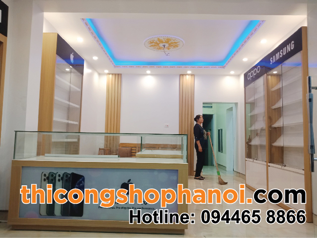 Thiết kế và thi công shop điện thoại iPhone tại Sóc Sơn HN