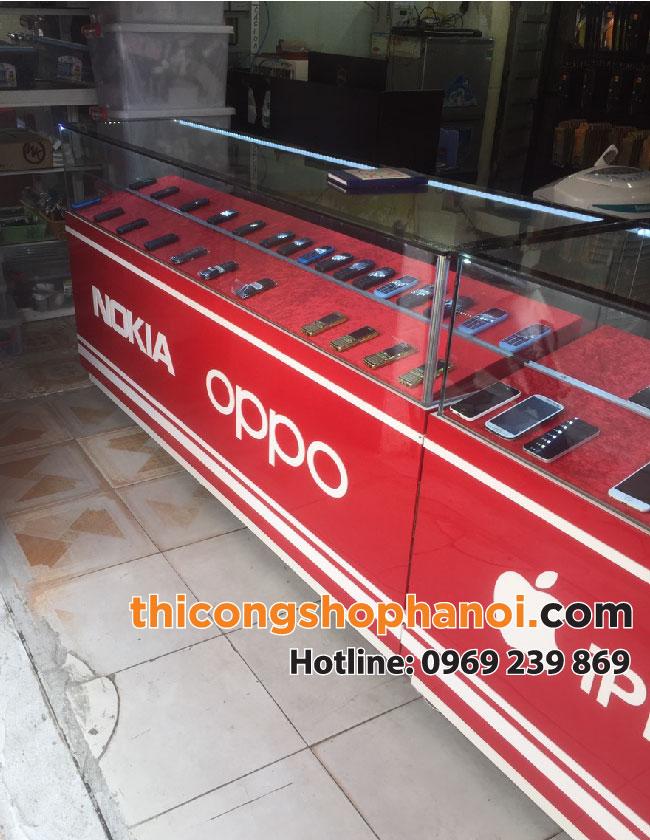 Thiết kế thi công tủ điện thoại cửa hàng Kiều Hưng – Gia Lâm – HN