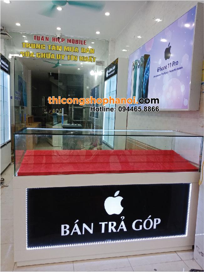 Thi công shop điện thoại Apple tại Mê Linh HN