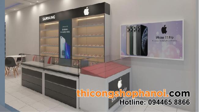 Thiết kế và thi công shop điện thoại Samsung tại HN