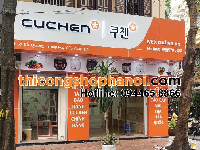 Thiết kế và thi công cửa hàng gia dụng Cuchen Hàn Quốc tại Hà Nội
