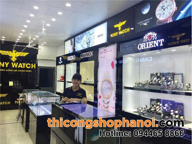 Thiết kế thi công Shop đồng hồ chính hãng tại Thường tín Hà nội