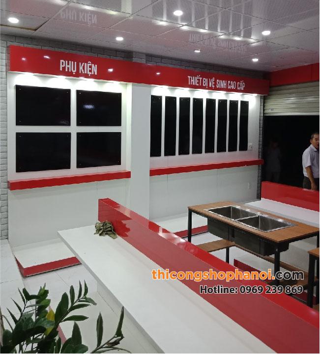 Thiết kế và thi công cửa hàng thiết bị vệ sinh, sen vòi, gạch ốp lát tại Tp. Hải Phòng