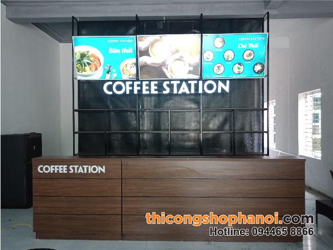 Thiết kế và thi công quán cà phê COFFEE STATION