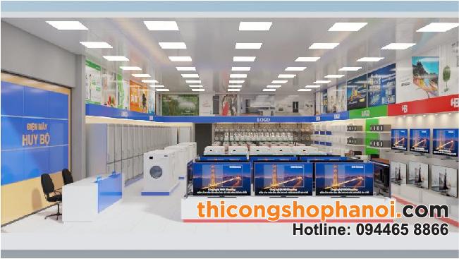 Thiết kế và thi công siêu thị điện máy Huy Bộ tại Lạng Sơn