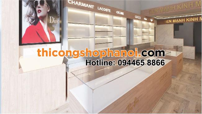 Thiết kế và thi công cửa hàng kính mắt, kính thuốc tại Tp. Thái Bình