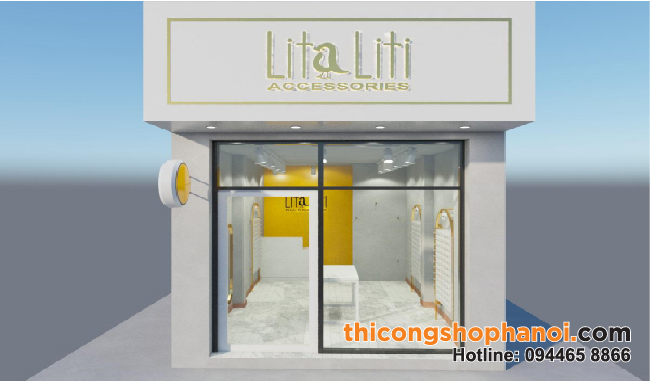 Thiết kế và thi công shop phụ kiện và trang sức Litaliti tại Yên Lãng Hà Nội