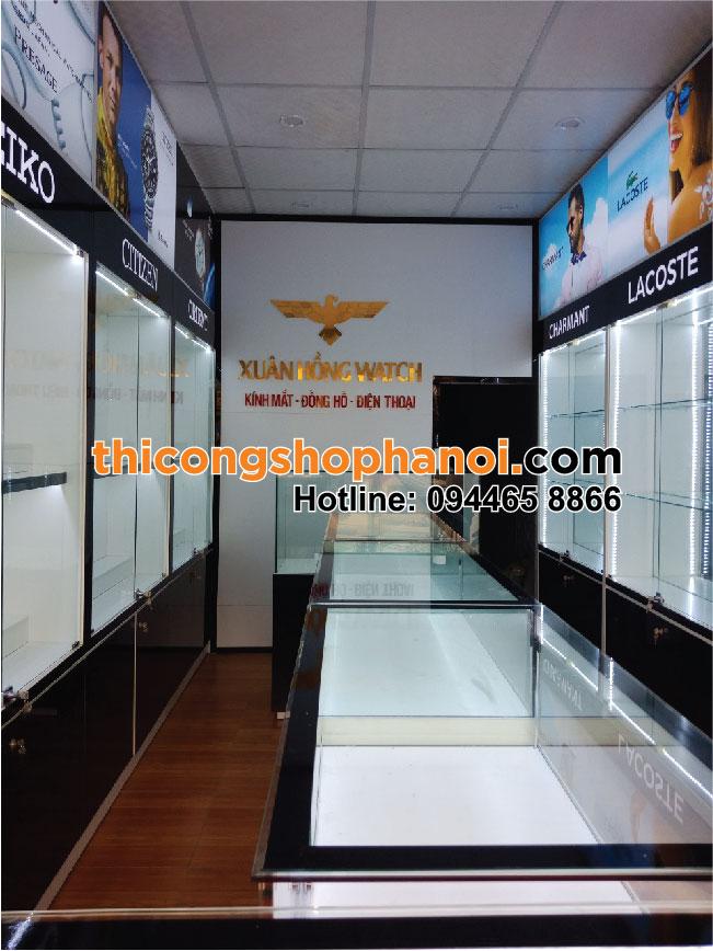 Thi công shop kính mắt đồng hồ và điện thoại tại Tp.  Uông Bí Tỉnh Quảng Ninh