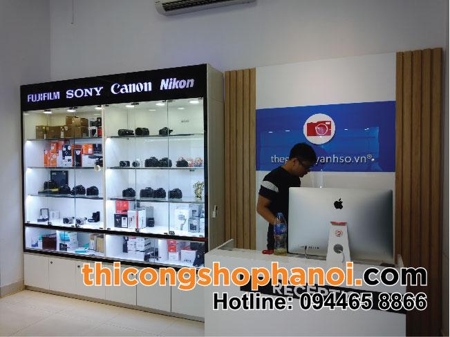 Thiết kế và thi công shop máy ảnh Canon, Sony, Nikon tại Hà Nội