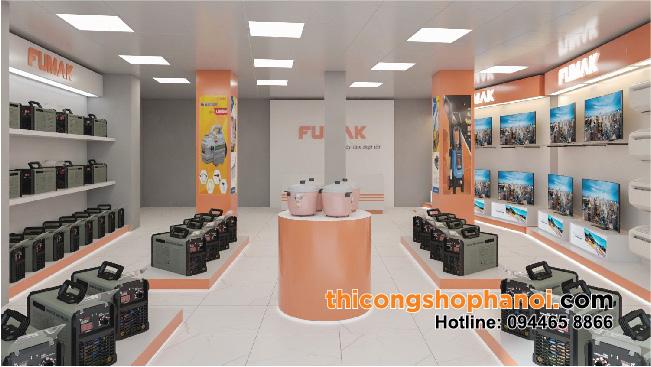 Thiết kế và Thi công shop máy móc công nghiệp tại Hà nội
