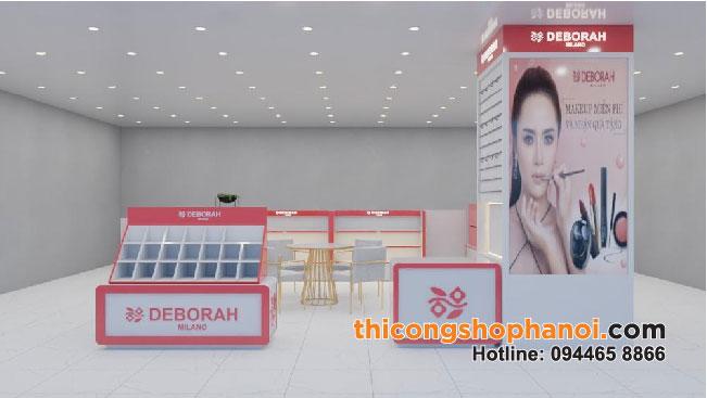 Thiết kế và thi công gian hàng Mỹ phẩm Deborah tại TTTM Royal City