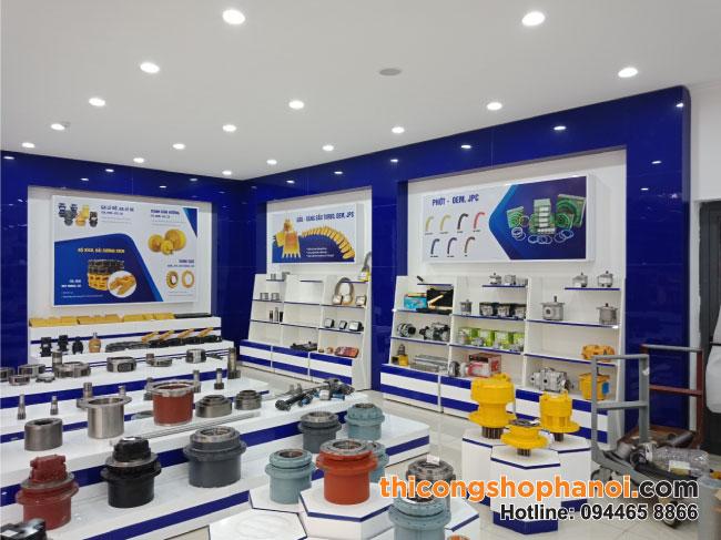 Thi công Showroom trưng bày Phụ tùng máy xúc, máy công nghiệp Phúc Long tại Khu CN Ngọc Hồi HN