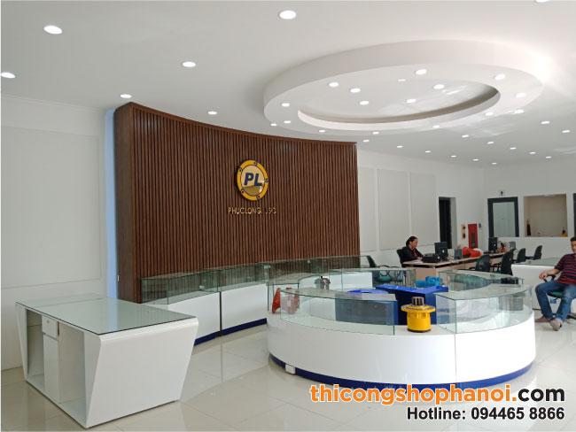 Thiết kế và thi công Showroom trưng bày Máy móc, phụ tùng Phúc Long