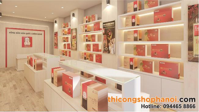 Thiết kế gian hàng trưng bày Linh Chi, Đông Trùng Hạ Thảo, Hồng Sâm Hàn Quốc tại Hà Nội