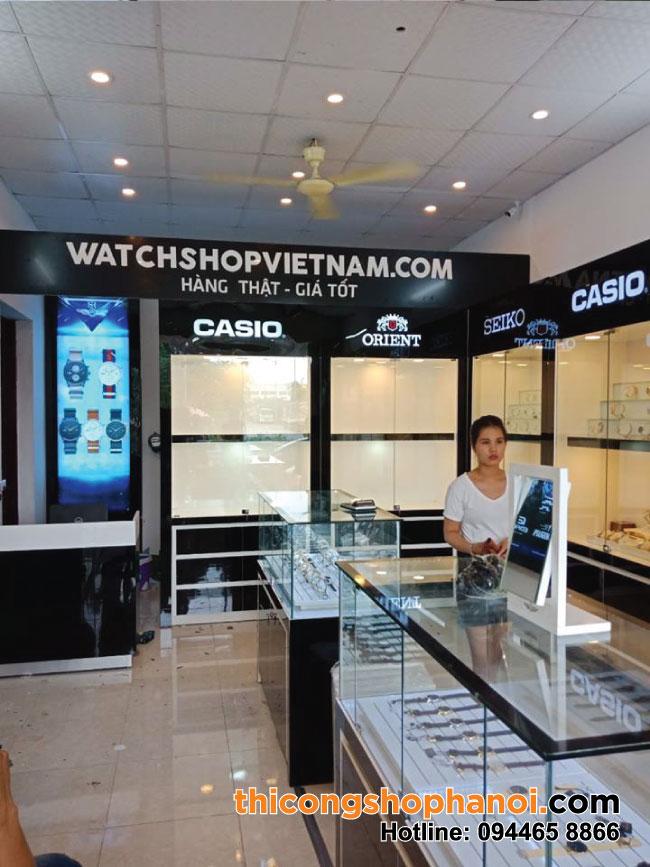 Thi công shop đồng hồ tại Hà Nam