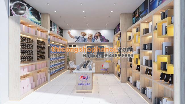 Thiết kế shop phụ kiện điện thoại tại Hiệp Hòa Bắc Giang