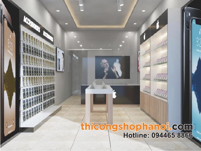 Thiết kế và thi công shop điện thoại Apple Store tại Hà nội