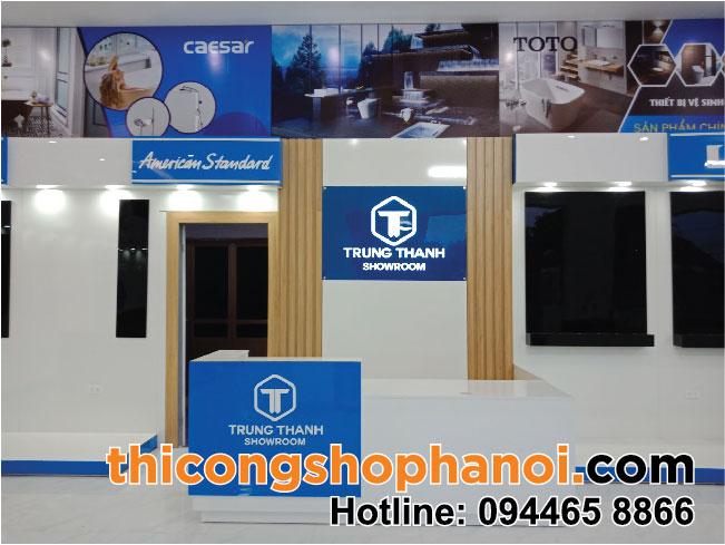 Thiết kế và thi công showroom gạch và TBVS cao cấp tại Thường Tín Hà Nội