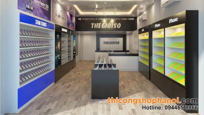Thiết kế shop điện thoại thế giới số tại Hà nội