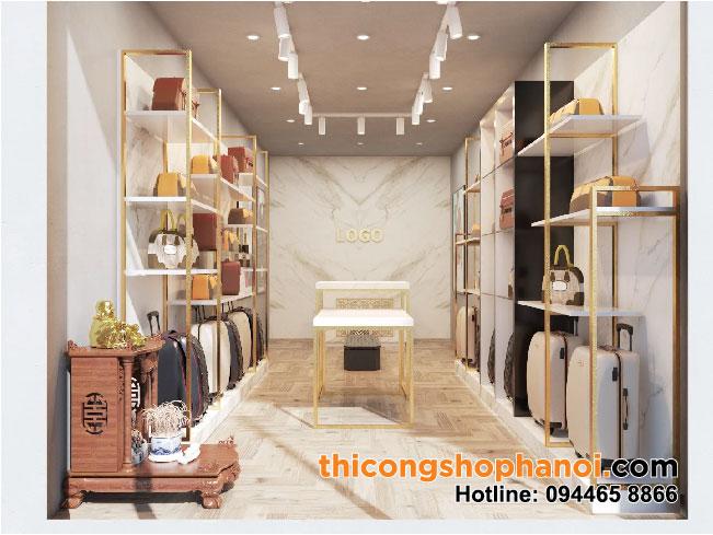 Thiết kế và thi công shop túi xách  thời trang tại HN