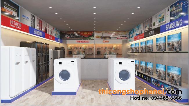 Thiết kế và thi công cửa hàng điện máy và đồ gia dụng