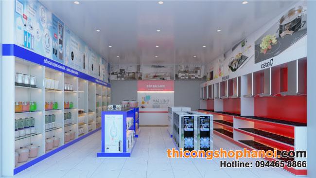 Thiết kế và thi công shop bếp Hải Linh