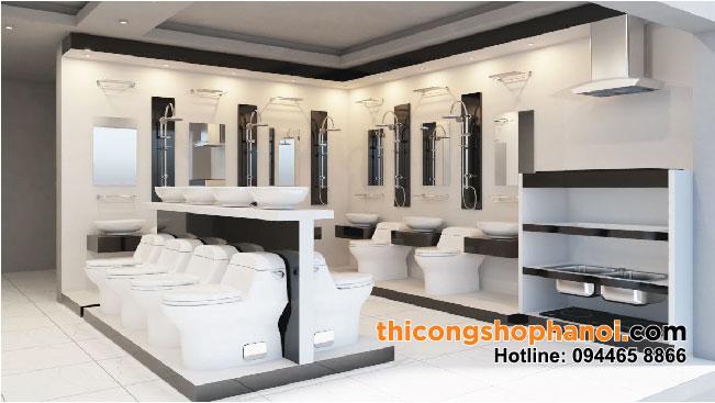Thiết kế và thi công Cửa hàng Sen vòi TBVS tại Hà Nội