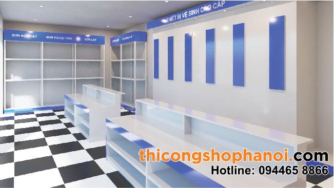 Thiết kế cửa hàng TBVS và Sơn tại HN
