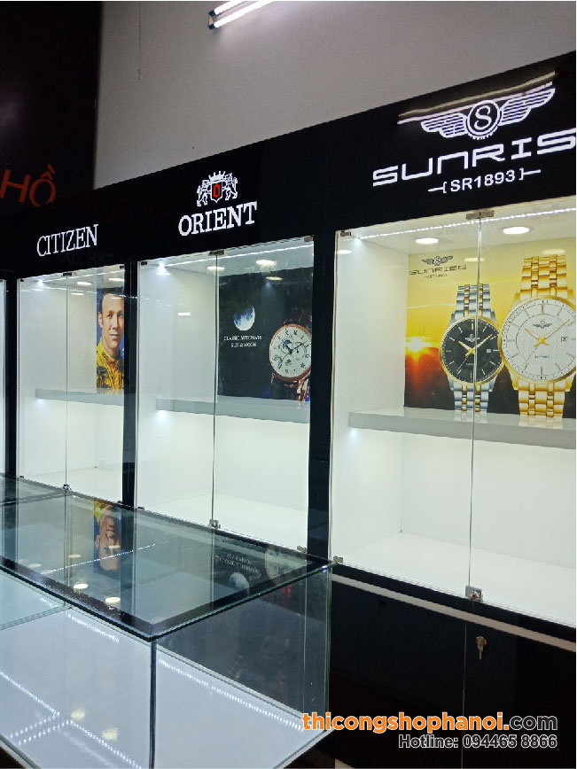 Thiết kế và thi công shop đồng hồ Selva Watch