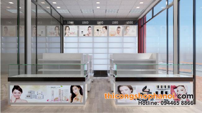 Thiết kế và thi công showroom mỹ phẩm Thu Hằng