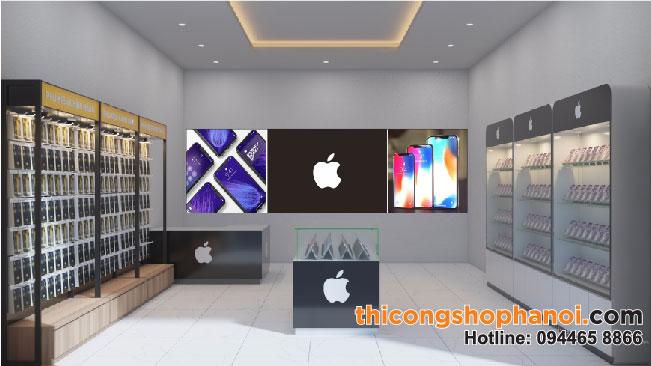 Thiết kế thi công shop điện thoại Apple