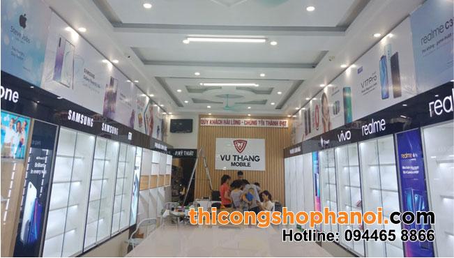 Thi công shop điện thoại Vũ Thắng tại xã Hoàng Xá H.  Thanh Thuỷ T. Phú Thọ