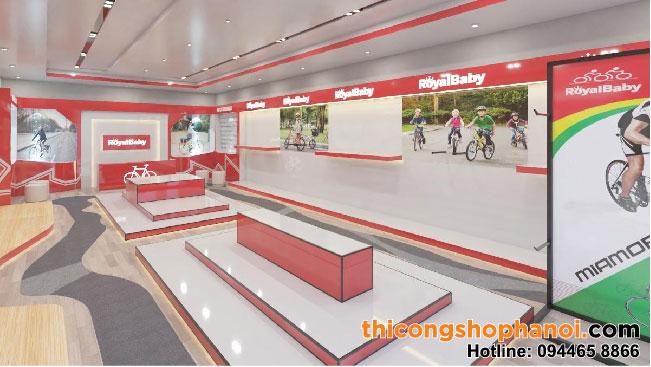 Thiết và và thi công showroom trưng bày xe đạp cao cấp tại Vin Ocean Park Gia Lâm