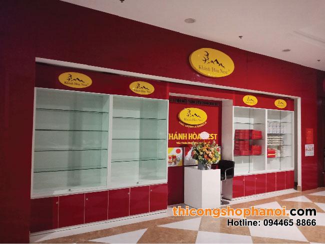 Thiết kế và thi công shop Yến sào Khánh Hòa