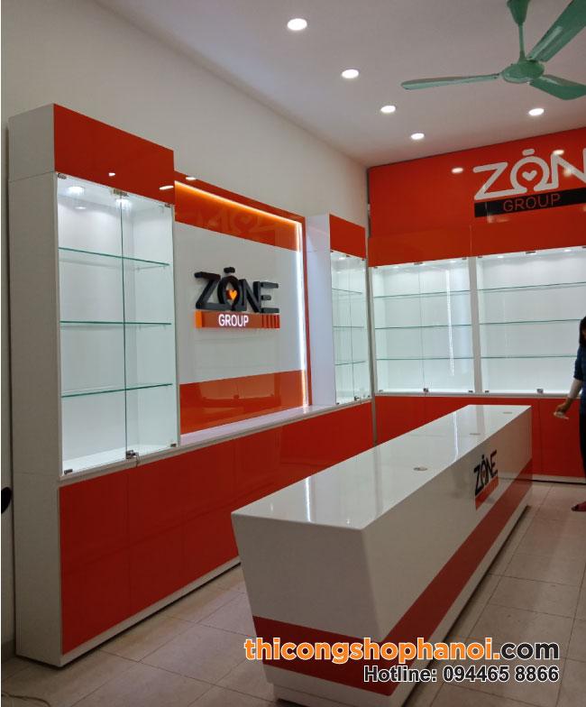 Thiết kế thi công shop Máy tính phụ kiện Zone